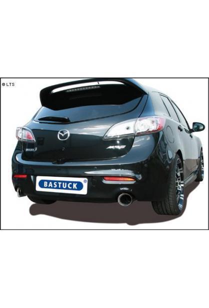 BASTUCK Sportauspuff inkl. Zubehör Mazda 3 MPS Typ BL ab Bj. 09 2.3l rechts links je 1 x 100mm Race Look (RohrØ 70mm)