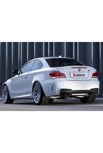 Akrapovic Duplex Sportauspuff Titan mit je 2 Carbon Endrohren (4 insgesamt) - BMW 1 M Coupe E82 Bj. 10-12