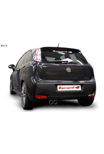 Supersprint Racinganlage ab Kat. 2x80mm - Fiat Grande Punto EVO 1.3 Multijet - 1.6 Multijet ab 2010