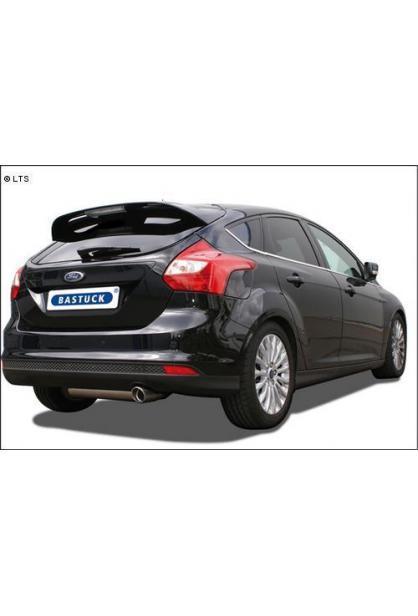 BASTUCK Komplettanlage ab Kat. Ford Focus 3 Turbo ab Bj. 10 1.6l 1 x 90mm mit Einsatz (RohrØ 70mm)