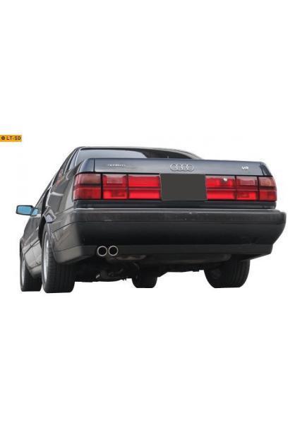 FOX Sportauspuff Endschalldämpfer Edelstahl Audi V8  3.6l u. 4.2l  2 ER 70mm  eingerollt  abgeschrägt  ohne Absorber Ø2x60mm