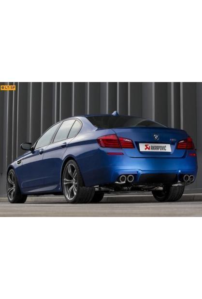 Akrapovic Titan Sportauspuffanlage ab Kat. rechts-links 2x100 Carbon mit Klappensteuerung - BMW F10 M5 ab Bj. 12