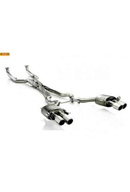 Akrapovic Titan Sportauspuffanlage ab Kat. rechts-links 2x100 Titan mit Klappensteuerung - BMW F10 M5 ab Bj. 12