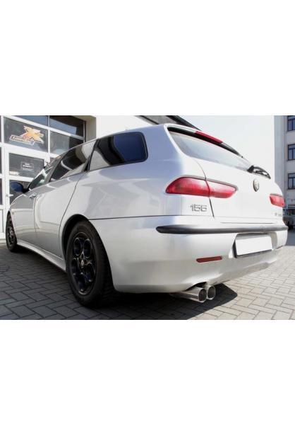 FOX Sportauspuff Alfa Romeo 156 1.6l bis 2.5l u. Diesel - 2 x 76mm ohne Absorber (RohrØ 60mm)