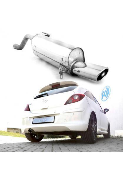 FOX Endschalldämpfer für Opel Corsa D Sportheck und OPC Line 115x85mm Typ 32
