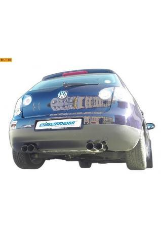 EISENMANN Sportauspuff Duplex Endschalldämpfer Edelstahl VW Golf 5 Limousine GTI 2.0l FSI Turbo - rechts links je 2 x 83mm abgeschrägt poliert in hartverchromter Ausführung
