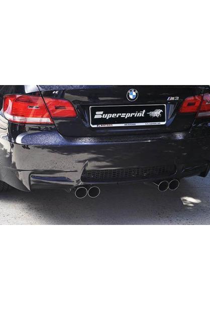 Supersprint Duplex-Sportauspuff RACING rechts links je 2x 80mm - BMW M3 E92 Coupé ab Bj. 07 u. E93 Cabrio ab Bj. 07