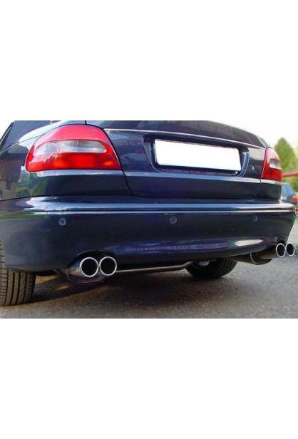 FOX Sportauspuff Volvo C70 1 2.0l 2.3l 2.4l ab Bj. 98 2 x 80mm rechts links eingerollt (RohrØ 70mm)