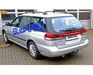 Einzelanfertigung Endschalldämpfer für Subaru Legacy Kombi Bj. 94-99 2.0l Boxer - 1 x 90mm scharfkantig