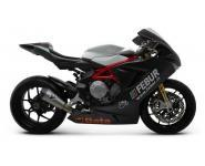Termignoni Slip On konische Form, Version Titan/Titan für MV AUGUSTA F3  675 Bj. 12-13