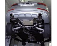 Einzelanfertigung Duplex Endschalldämpfer für Audi Q5 2.0l - rechts links je 1 ER oval eingerollt