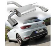 Fox Sportauspuff duplex Endschalldämpfer für Seat Leon 5F + SC Cupra  je 140x90mm
