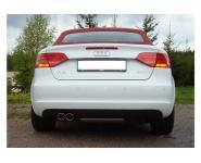 FOX Sportauspuff Audi A3 8P Cabrio Bj. 11 - 13- 2x76mm Typ 17