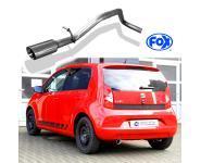 FOX Sportauspuff links 1x80mm abgeschrägt für Seat Mii Skoda Citigo VW Up 1.0 44/50/55kW