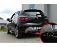 FOX Endschalldämpfer Sportauspuff 2x76mm links rund Typ 16 Renault Clio IV GT 118 PS / 120 PS ab Bj. 13