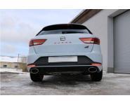 FOX Racing Sportauspuffanlage Duplex je 160x90mm für Seat Leon 2.0 Cupra 265/280/290 PS ab Bj. 2013