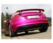 FOX DUPLEX Sportauspuff Audi TT Quattro 8J 2.5l RS Endschalldämpfer quer Ausgang re/li mit Unterdruckklappe