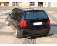 VW Polo 6N  Bj. 94-99  1.0l  1.1l  1.3l  1.4l  1.6l FOX Komplettanlage ab Kat.  1 ER  80mm  eingerollt  gerade  mit Absorber  Edelstahl Sportauspuff
