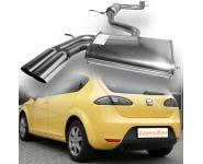 FSW Sportauspuff Komplettanlage Seat Altea 5P 2x76mm rund schräg Edelstahl  GRUPPE A+