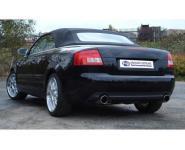 FOX Sportauspuff Audi A4 Typ B7 Cabrio Lim. Avant 2.0l  2.4l  3.0l - rechts links je 1 x 90mm schräg