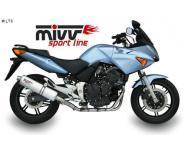 Mivv Sport-Line Oval Titan Schalldämpfer Slip on für HONDA CBF 600 ab Bj. 04