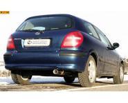 FOX Sportauspuff Nissan Almera N16 ab Bj. 00 1.5l  1.8l  1.5l dCi - 1 x 80mm mit Abs. (RohrØ 50mm)