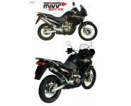 Mivv Sport-Line Oval Carbon Schalldämpfer Slip on für HONDA XLV 650 TRANSALP Bj. 05-07