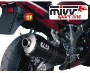 Mivv Sport-Line Oval Carbon Schalldämpfer Bolt-On für HONDA CBR 900 RR Bj. 00-01