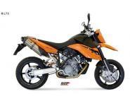 Mivv Sport-Line Suono Full Titan Schalldämpfer Bolt On für KTM LC8 950 SUPERMOTO R Bj. 05-06