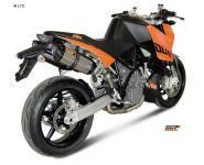Mivv Sport-Line Suono Edelstahl Schalldämpfer Slip on für KTM 990 SUPERDUKE ab Bj. 05