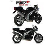 Mivv Sport-Line Oval High Up Titan Schalldämpfer Slip on für TRIUMPH SPEED TRIPLE 955 Bj. 02-04