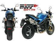 Mivv Sport-Line Oval High Up Titan Schalldämpfer Slip on für TRIUMPH SPEED TRIPLE 1050 Bj. 05-06