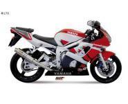 Mivv Sport-Line GP Titan Endschalldämpfer Slip on für YAMAHA YZF 600 R6 Bj. 99-02