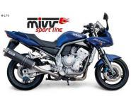 Mivv Sport-Line Oval Carbon Schalldämpfer Slip on für YAMAHA FZS 1000 FAZER Bj. 01-05
