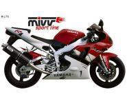 Mivv Sport-Line Oval Carbon Schalldämpfer Slip on für YAMAHA YZF 1000 R1 Bj. 98-01
