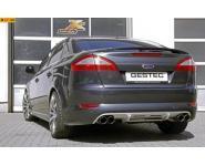Einzelanfertigung Komplettanlage ab Kat für Ford Mondeo Typ BA7 ab Bj. 07 2.5l T - rechts links je 2 x 80mm