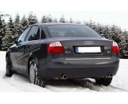 FOX Sportauspuff Audi A4 Typ B6 (Limousine u. Avant) 1.6l  2.0l  1.9l TDI rechts links je 1 x 76mm (RohrØ 55 - 2x50mm)