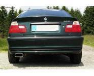 FOX Sportauspuff Endschalldämpfer Edelstahl BMW Bj. 98-00  2.0l  2.5l  2.8l  1 ER 135x80mm flachoval  eingerollt  abgeschrägt  mit Absorber