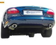 FOX Sportauspuff Jaguar XK8 und XKR - Typ QEV und QDV Coupe und Cabrio  ab Bj.  98  rechts   links je 1 ER 115x85mm oval