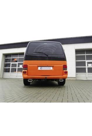 FOX Sportauspuff Duplex VW Bus T4 Kasten Pritsche Syncro ab Bj. 1990 je 1x160x80mm Absorber