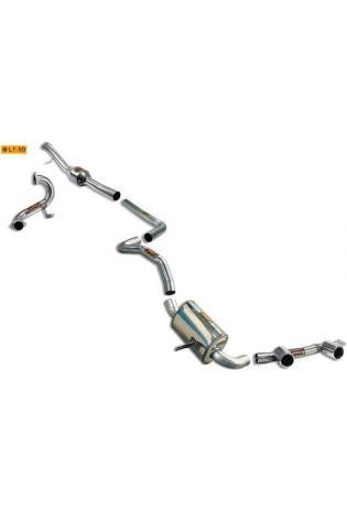 Supersprint Sportauspuff Racing-Komplettanlage mittig 2x 90 inkl. Downpipe und Kat. - Renault Megane II R26 Bj. 07-09 und 2.0i RS Turbo Bj. 04-09