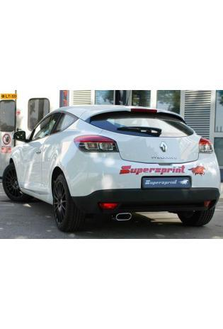 Supersprint Sportauspuffanlage links 145x70mm ab Mittelschalldämpfer - Renault Megane III 1.4 TCe ab Bj. 2010