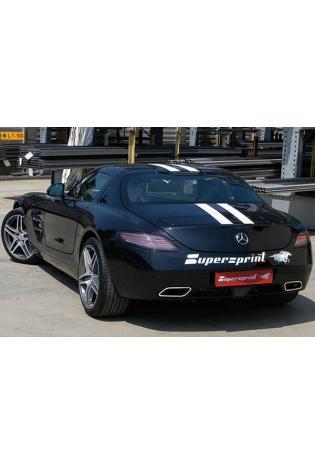 Supersprint Duplex-Sportauspuffanlage ab Kat. - Mercedes SLS AMG 6.3i ab 2010
