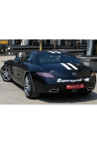 Supersprint Sportauspuff Duplex-Komplettanlage inkl. Fächerkrümmer, Kat. u. X-Pipe - Mercedes SLS AMG 6.3i ab 2010