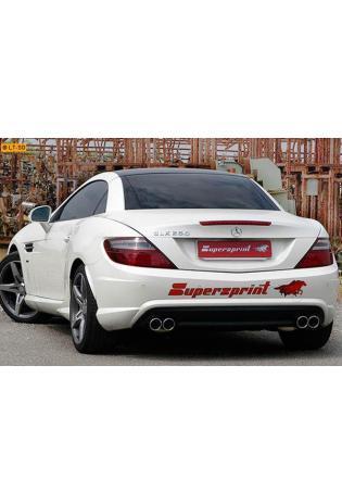Supersprint Sportauspuff Endschalldämpfer rechts-links 2x80 rund - Mercedes R172 SLK 200 CGI u. 250 CGI 350 V6 ab Bj. 11