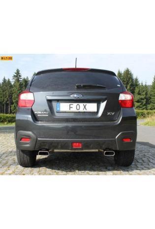 FOX Sportauspuff Subaru XV 2.0l - rechts links je 1 x 145x65mm Trapez (RohrØ 50mm)