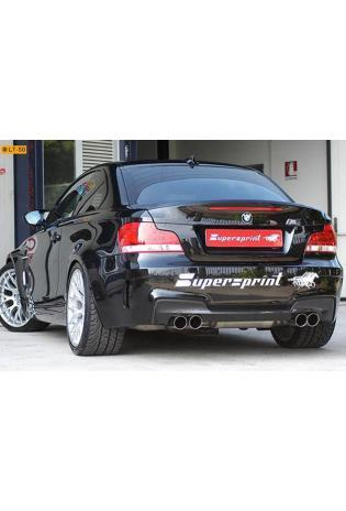 Supersprint Duplex-Racinganlage rechts links je 2x 80 inklusive Downpipe - BMW 1er E82 M Coupé ab 2011