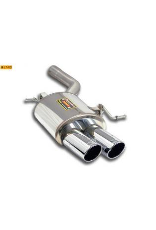 Supersprint Sportauspuff Endschalldämpfer links 2x90 rund - BMW 6er F12-F13 Cabrio-Coupé 640i und 640d ab Bj. 11