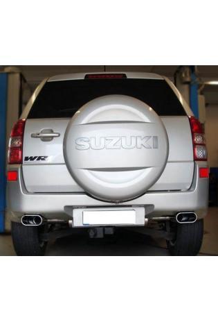 FOX Sportauspuff Suzuki Grand Vitara Typ JT ab Bj. 05 2.4l - rechts links je 1 x 160x80mm flachoval (RohrØ 63.5mm)