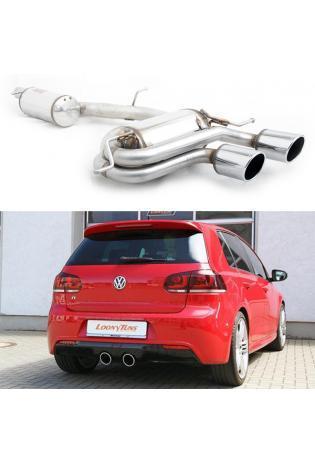 Supersprint Sportauspuffanlage 2x100 rund ab Kat. - VW Golf V R32 ab 06 und Golf VI R 2.0i TFSI ab Bj. 10